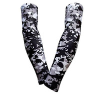 black camo Compression Elbow Arm Sleeves baseball sleeve Bike Golf live and die Arm Sleeve Cover Warmers UV Sun Protection sleeve