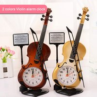 Wholesale Violin Antique - Creative Violin Alarm Clock, Home Accessories, Children's Toys Gifts, Lovely Furnishings, Novelty Ornaments,Electronic Alarm Clock.