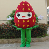 Wholesale Strawberry Fruit Costumes - customized mascots high quality funny Strawberry mascot costume adlut outfits fruit cartoon character mascots for sale