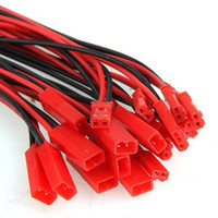 Wholesale Vga Hdmi Diy - 10 Pairs 2 Pin JST 100mm Pitch 2.54mm Male and Female Wire Connector Plug Cable for DIY LED RC Battry Model