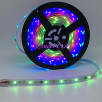 Wholesale Diy Pc Wiring - DC 12V 30leds m 150leds 2811 RGB Flexible LED Strip Light 5050 SMD RGB IP67 IP20 addressable RGB color DIY ws2811 led pixel tape ribbon
