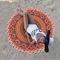 baskılı yatak örtüleri toptan satış-Bohemian Dekor Kapak Yoga Minderi Baskılı Paspas Asma Çevre Dostu Yaz Plaj Havlusu Baskı Hint Mandala Yatak örtüsü Goblen Şal Duvar