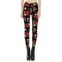Wholesale Plus Size American Leggings - Womens Floral Print Plus Size Sexy Workout Slim Bodycon Pants Casual Fitness Elastic Skinny Leggings For Female 4XL