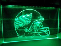 Wholesale Led Light Helmet - LD441g- Saskatchewan Roughriders Helmet LED Neon Light Sign