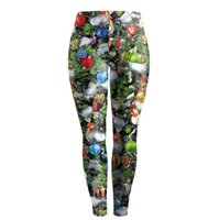Wholesale Women Christmas Leggings Print Active Workout Stretch Footless Leggings Casual Active Sports Gym Pants Joggers Sweatpants ouc0371 DHL