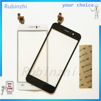 Wholesale Wholesale Jiayu G5 - Wholesale- RUBINZHI Phone Touchscreen Sensor For JY-G5 Jiayu G5 G5S Touch Screen Digitizer Front Glass Panel Parts tracking number+tape