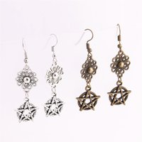 12pcs / lot en alliage de métal Zinc Flower Connector Star Pendentif Charm Drop Earing Diy Jewelry Making C0770
