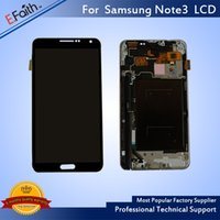 Wholesale Galaxy Note Screen Assembly - Wholesale-Brand New Galaxy Note 3 Black LCD Display Touch Screen Digitizer Assembly & Free DHL Shipping