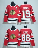 Wholesale Ice Stock - In Stock Mens 2017-2018 New Season 19 Jonathan Toews 88 Patrick Kane Jersey Chicago Blackhawks Team 100% Stitched Embroidery Hockey Jerseys