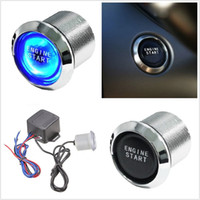 Estilo do carro Auto Keyless Engine Ignition LED azul Botão de luz Iniciador Interruptor de energia Push Start Universal