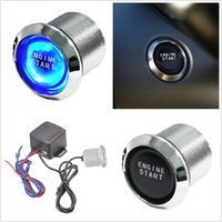 Style de voiture Auto Keyless Engine Ignition LED bleue Bouton lumineux Démarreur Commutateur d'alimentation Push Start Universal