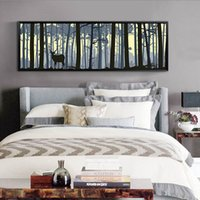 Wholesale Large Canvas Art Frame - Large Wall Art Elk Canvas Paintings Scenery Paintings Animal Art Print For Bedroom Home Wall Decor Modern Style Design