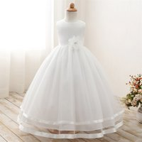 Wholesale Teenager Pageant Dresses - Flower Girl Dress for kids First Communion Gown Girls Teenager Dresses Princess Prom Pageant Party Children Dress