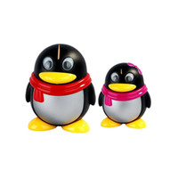 Wholesale Cute Toothpick Holders - Wholesale-2016 Cute Penguins Automatic Toothpick box promotion Creative Tooth Picks Box Toothpick Holders Home Decoration Birthday Gifts