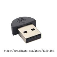 usb mikrofon dizüstü toptan satış-Mini USB 2.0 Mikrofon MIC Ses Adaptörü Sürücüsü MSN PC Dizüstü Dizüstü Masaüstü Ses Tanıma Yazılımı