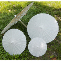 Wholesale Wholesale Paper Parasol Umbrellas - bridal wedding parasols White mini paper umbrellas Chinese mini craft umbrella 4 Diameter:20,30,40,60cm wedding favor decoration