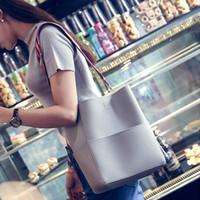 Wholesale Large Suede Handbag - Composite bag Luxury Brand Designer Bucket bag Women Leather Wide Strap Shoulder bag Handbag Large Capacity Crossbody Color 5 DAUNAVIA