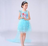 Wholesale Snowflake Skirts - 2017 new brand girl, snowflake design embroidery princess skirt; shawl lace vest skirt