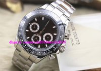 Wholesale Panda Tops - Luxury Watches Brand NEW Top Quality Asia 2813 Mechanical CERAMIC 116500LN Black Face Panda Automatic Men's Watch Watches