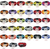 outdoor team sports - Mix Styles Football Team Paracord Survival Bracelets Friendship Outdoor Camping Sports Bracelet Customized logo team umbrella bracelet