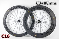 Wholesale 88mm Wheels - Best selling carbon bicycle wheels 700C With 20.5mm width Road bike Cosmic 60+88mm carbon wheels 01 free shipping