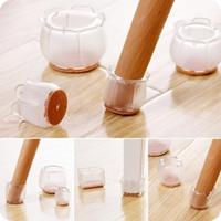 gummiböden großhandel-Durable Rubber Chair Leg Caps Füße Pads Möbel Tischdecken Socken Bodenschoner Runde Squre Form Boden Rutschfeste Tassen