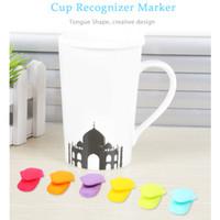 Wholesale Tongue Shape - Creative 6pcs Tongue Shape Tea Bag Holder Cup Mug Recognizer Marker Food Grade Silicone Safe Decorative Tools for Home Office