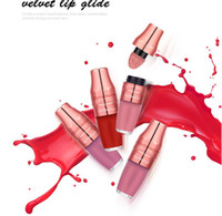 Wholesale orange lipstick matte for sale - O TWO O Shake Air Velvet Liquid Lipsticks Professional Air Cushion Nude Red Waterproof Lip Gloss Makeup Matte Duff Lipgloss