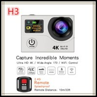 Wholesale Original H3R K Ultra HD WIFI Action Cameras G Remote Controller waterproof Sport Camera Video Camcorders LCD P Lens