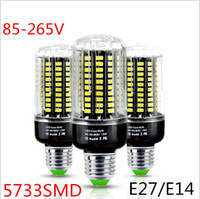 Commercio all'ingrosso 3 W 5 W 7 W 9 W 12 W 15 W SMD5733 E27 E14 LED Corn Bulb No Flicker Costante Design Corrente 85-265 V LED lampada Spot light