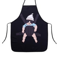 Wholesale Sexy Waiter - Adjustable Polyester Cartoon Pattern Apron Waterproof Chef Waiter Kitchen Apron Funny Sexy Dinner Baking Barbecue Party Aprons
