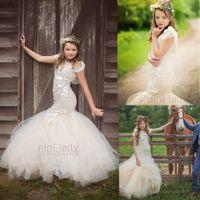 Wholesale Tutu Model Dresses - Mermaid girls pageant dress Princess Tutu Wedding Party Pageant Gown
