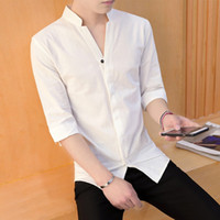 Wholesale Collar Shirts Wholesale - long sleeve Summer Men's Cotton Men's cotton shirt Quick Dry Shirt DHL Free