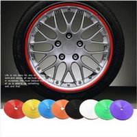 Wholesale orange motorcycle accessories - 8 M Car Motorcycle Wheel Hub Tire Sticker Car Decorative Strip Wheel Rim Protection Care Covers Car Accessories Car-Styling