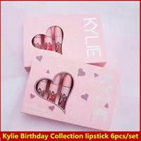 Wholesale Newest hot Makeup Kylie Birthday Collection MATTE Liquid lipstick set I want it ALL valvet matte Colors By Kylie Jenner lip gloss