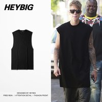 Wholesale Vests China - Wholesale- Sleeveless Tops JUSTIN BIEBER vest 2016 Summer Men Solid Crewneck Tank top China Size S-2XL Skateboard Street Fashion clothing