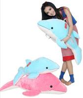golfinho azul de pelúcia venda por atacado-28/35/47