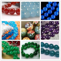 "Wholesale Gemstone Loose Beads Sapphire - Wholesale cheap 9colore Apatite Ruby Aquamarine Sapphire Gemstone Round Loose Beads 15"" 6-14mm"