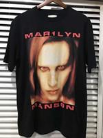 Wholesale Bigger Justin - 2017SS summer Justin Bieber FOG FEAR OF GOD Oversize bigger than satan BIEBER T shirt HIPHOP METALLICA Marilyn Manson Cotton Tee