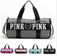 HOT Women Handbags Pink Letter Large Capacity Travel Duffle à rayures imperméable à l'eau Sac à bandoulière sac 30pcs gratuit