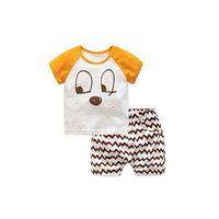 Wholesale Bamboo Boy Shorts - Summer bamboo cotton children shorts two sets kids boy kids girl