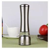 Wholesale salted food resale online - Salt And Pepper Grinder Set Wear Resisting Stainless Steel Manual Peppers Mill Seasoning Household Kitchen Cooking Tools xz C R