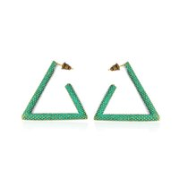 Wholesale Earring Big Triangle - Metal Bronze Triangle Stud Earrings For Women Fashion Modern Big Earrings Simple Bohemia Party Jewelry Gift