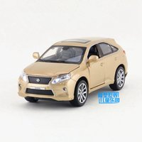 Wholesale Lexus Child - Free Shipping 1:32 Scale Lexus RX450H SUV Toy Sound & Light Diecast Metal Pull back Car Educational For Children Collection
