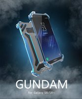 Wholesale Metal Shell Case - Phone Shell Gundam Series Metal Bumper phone case for Samsung Galaxy S8 S8 plus S7 Edge S7 Luxury Armor Doom Anti-knock bumper