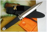 black steel blade sword - Cold steel Tai pan D Boot Dagger Survival Fixed Bowie Hunting Knife Double Blade Japanese Warrior Sword Tactical Survival Army Rescue too