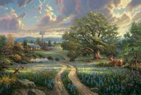 Wholesale country landscape paintings - Country Living Thomas Kinkade Oil Paintings Art Wall Modern HD Print On Canvas Decoration No Frame