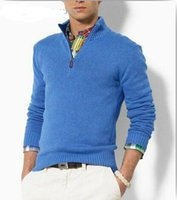 Wholesale Thin Cotton Cardigan - Wholesale-new arrival cardigan v neck polo sweater, men cotton casual coat, fashion brand knitted sweater half zipper jumper