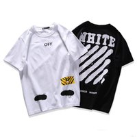 Wholesale Teenagers Casual Shirts - Free Shipping Kanye Famous Brand Off White Eurepo American Teenagers Street Skateboarding T-Shirt Love's Popular With Short Sleeves T-Shirt