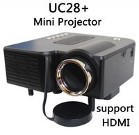 Wholesale digital projector sd card for sale - Group buy UNIC Multidimension UC28 household mini LED projector Support computer TV USB flash SD card and DVD